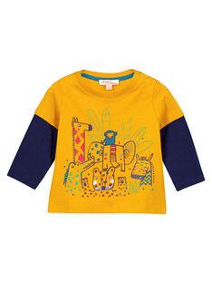 Golden yellow T-shirt GUMUTEE2 / 19WG10F1TML106