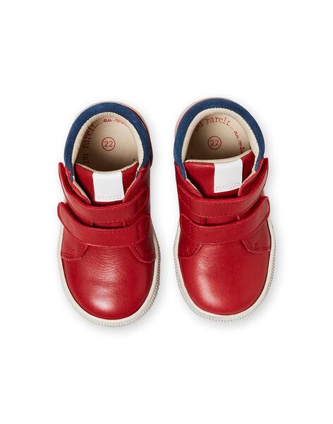 Sneakers rosse e navy neonato LBGBASRED / 21KK3831D3F050