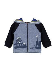 Cardigan con cerniera e cappuccio neonato FUCOHOJOG / 19SG1082GIL099