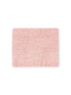 Scaldacollo rosa in ciniglia bambina MYAROSNOO / 21WI0154SNOD332