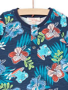 T-shirt a maniche corte navy neonato LUBONTUN / 21SG10W1TMC717