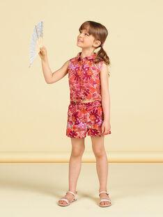 Camicia arancione e rosa con stampa a fiori LATERCHEM / 21S901V1BLU001