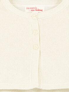 Cardigan dorato in maglia e lurex neonata GINOCAR2 / 19WG09V2CAR954