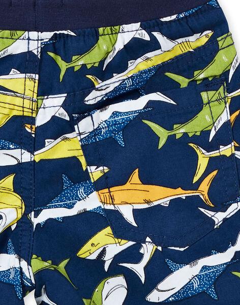 Bermuda con stampa blu bambino LONAUBER / 21S902P1BER070