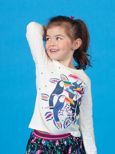 T-shirt maniche lunghe stampa tucani LANAUTEE2 / 21S901P2TML001