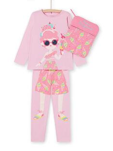Completo pigiama t-shirt e leggings rosa bambina LEFAPYJICE / 21SH11S3PYGD303