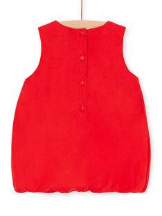 Abito rosso neonata LICANROB4 / 21SG09M2ROBF505