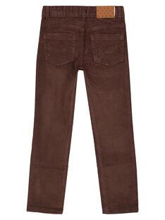 Pantaloni in Velluto Cacao Regular GOJOPAVEL6 / 19W902L1D2B816