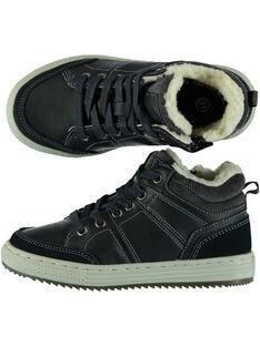 Sneakers navy fodera calda bambino GGBASBOY / 19WK36I1D3F070