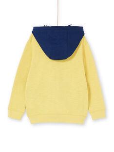 Felpa con cappuccio gialla e blu - Bambino LONAUGIL / 21S902P1GILB102