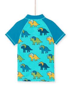 T-shirt anti-UV blu e turchese bambino LYOMERUVTIDIN / 21SI02D1TUVC215