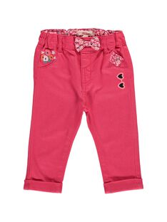 Baby girls' twill trousers CIHOPAN / 18SG09E1PANF503