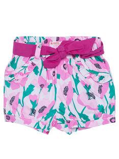 Shorts a palloncino con stampa neonata JIPOESHO / 20SG09G1SHO301