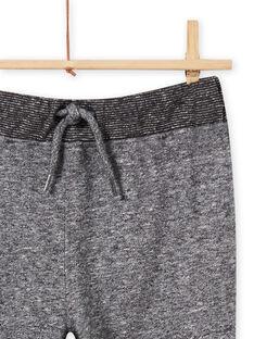 Pantaloni sportivi felpati grigio melange bambino MOTUJOG / 21W902K1JGBJ922