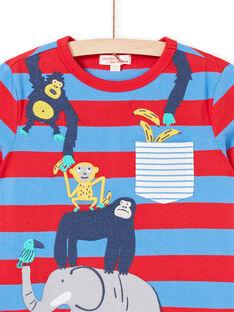 T-shirt a maniche corte blu bambino LOVITI2 / 21S902U5TMC201