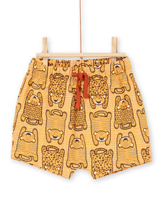T-shirt e shorts mattone e arancione neonato LUTERENS / 21SG10V1ENSF519