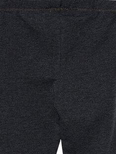 Leggings bambina grigio scuro JYAESLEG3 / 20SI0161D26944