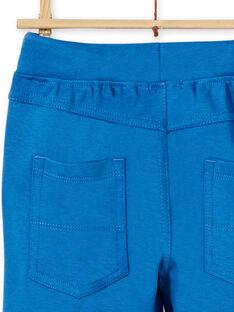 Pantaloni blu in cotone bambino LOJOPAN1 / 21S90233PAN702