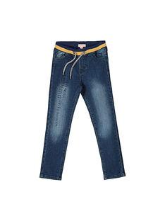 Jeans elastico in vita bambino FOLIJEAN / 19S90221JEA704