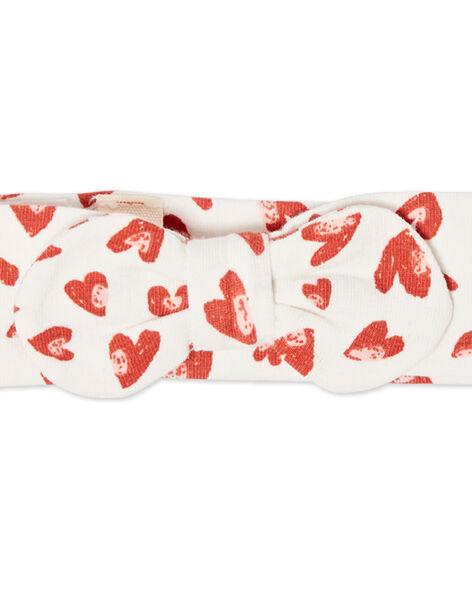Fascia ecrù e rossa neonata LYITERBAN / 21SI09V1BAN001