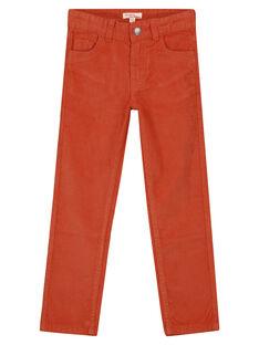 Pantaloni in Velluto Mattone Regular GOJOPAVEL8 / 19W902L5D2B408