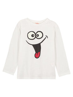 T-Shirt Maniche Lunghe Collo Rotondo Ecrù GOJOTISLU2 / 19W90245D32001