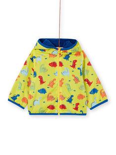 Cappotto con cappuccio giallo neonato LUGROBLOU / 21SG10R1MAN102