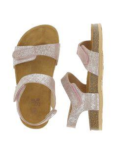 Girls' leather sandals CFNUMETAL / 18SK35WQD0E030