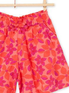 Shorts corallo e viola con stampa a fiori LAVISHORT2 / 21S901U2SHO419