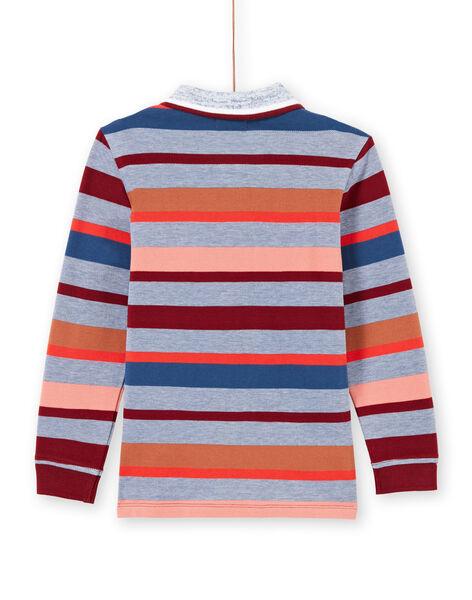 Polo maniche lunghe a righe colorate bambino MOPAPOL / 21W902H1POL219