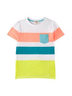 T-shirt bambino bianca con stampa a righe JOQUATI2 / 20S902R5TMC000