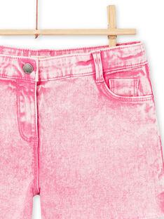 Shorts acide wash rosa fluo bambina LABONSHORT1 / 21S901W2SHOD311