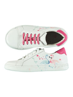 Sneakers da città in pelle con stampa bambina FFBASFLAM / 19SK3541D3F000