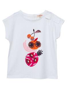 T-shirt ecrù con stampa frutti JAVITI / 20S901D1TMC001