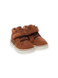 Sneakers cammello scamosciate neonato MUBASIMA / 21XK3871D3F804