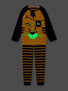 Pigiama con motivo tigre e dettagli fosforescenti bambino MEGOPYJLION / 21WH1281PYJB107