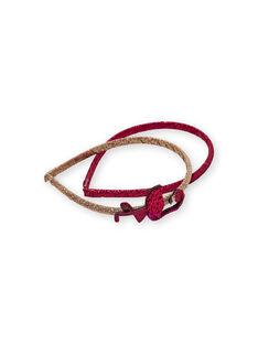 2 cerchietti dorato e rosso bambina LYATERSERRE / 21SI01E2TETK008