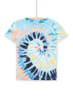 T-shirt maniche corte blu bambino LOBONTI1 / 21S902W2TMCC201