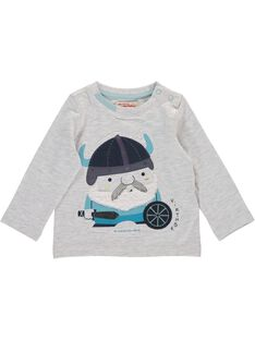 Baby boys' long-sleeved T-shirt DUGITEE1 / 18WG10N1TML001