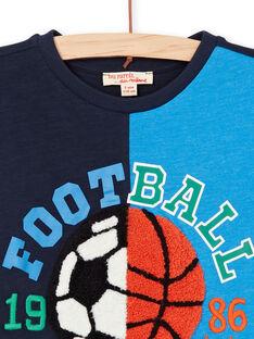 T-shirt navy e blu bambino LOHATI1 / 21S902X2TMC705