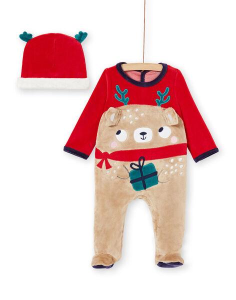 Tutina neonato motivo orsetto natalizio con berretto KEGAGRENO / 20WH14R1GREF529