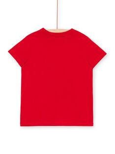 T-shirt rossa bambino LOJOTI9 / 21S902F3TMC050