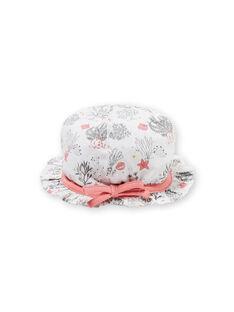 Cappello bianco con stampa fantasia nascita LOU2CHA / 21SF40I1CHA000
