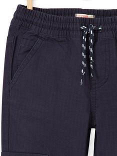 Pantaloni cargo blu notte bambino LOJOPAMAT1 / 21S90243PAN705