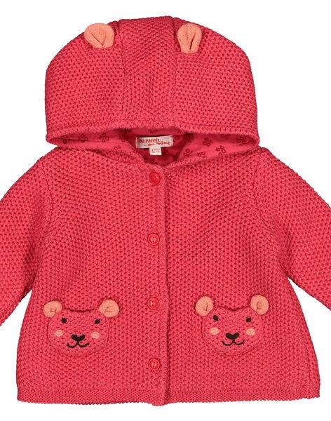 Giacca in maglia con cappuccio neonata FIBAVEST1 / 19SG09X1VES308