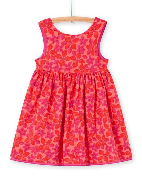 Abito double face rosso e rosa stampa a fiori LAVIROB2 / 21S901U3ROB419