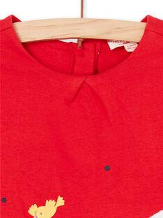 Abito rosso neonata LIHAROB3 / 21SG09X2ROB505