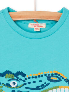 T-shirt turchese bambino LOVERTI1 / 21S902Q1TMCC215