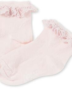 Calze rosa confetto neonata KYIESCHODEN3 / 20WI0982SOQD310