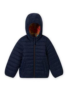 Giubbotto con cappuccio matelassé e double face blu bambino MOGROBLOU1 / 21W90254BLO804